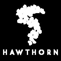 Hawthorn Logo White